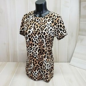 PINK Victoria's Secret Leopard Tee M NWT ~ ER29